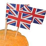 【ノーブランド 品】50枚 英国 国旗 ピック 食品 カップケーキ カクテル 装飾 結婚式 パーティー ファッション デザイン。