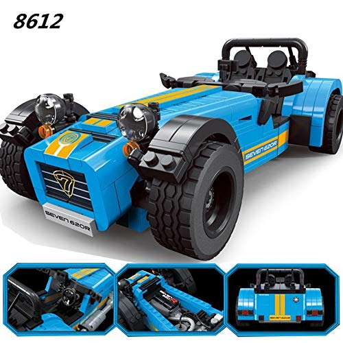 LEGO 21307 レゴ アイデア 互換 ケータハム セブン 青 caterham 620R スーパーカー スポーツカー クラシックカー レトロカー DECOOL 8612