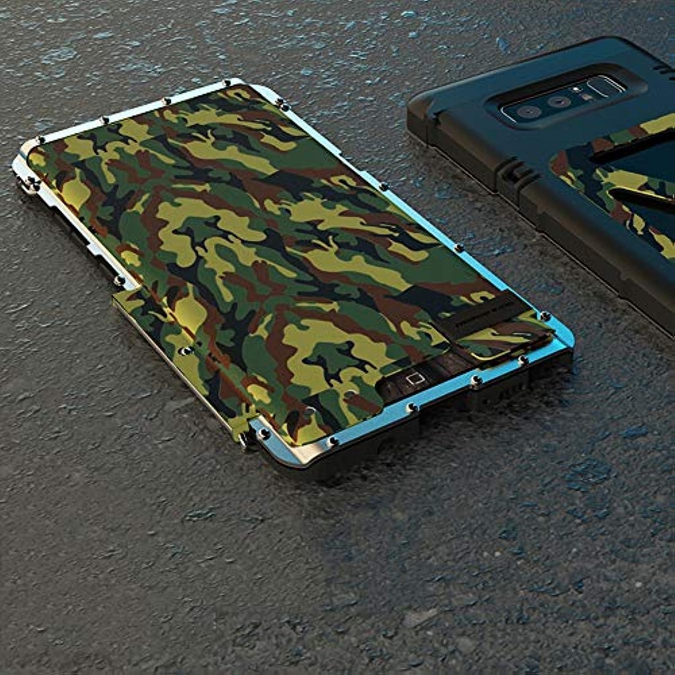 類推主張するメロドラマティックTonglilili サムスン注8、注FE、注2、注3、注4、注5用ブラケット携帯電話シェル飛散防止クリエイティブスリーインワンメタルフリップアイアンマン保護携帯電話シェル電話ケース (Color : Camouflage, Edition : Note2)
