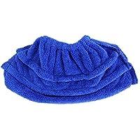洗えるモップカバー クリーニング 布パッド 湿った床や床の掃除に こすり洗い用 子供ケア 埃 ブルー Fdit47vshybtwn-01