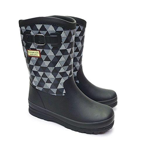 [ヒロミチナカノ] hiromichi nakano 子供長靴 WC143R レインシューズ MOOONSTAR ブラックチェック 23.0cm