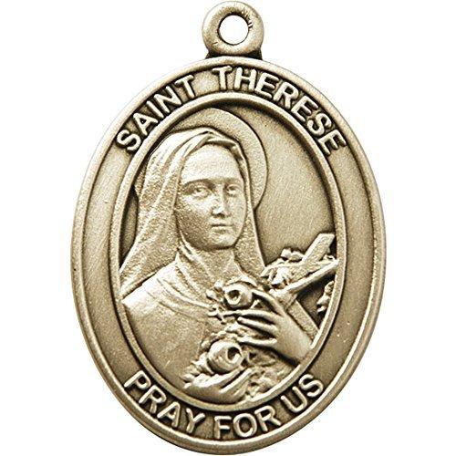 酸化金メッキ聖Therese of Lisieuxキーチェーン