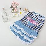 犬服 ペット用品 ペット服 スカート付き かわいいお嬢様ワンピース 春 夏 秋 冬 1色3サイズ ノーブランド品