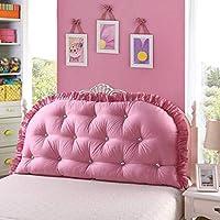 コットンプリンセスベッドヘッドクッションソリッドカラーラージバックコットンベッドクッション枕洗えるバラエティオプション(カラー:A、サイズ:200 * 80 cm)
