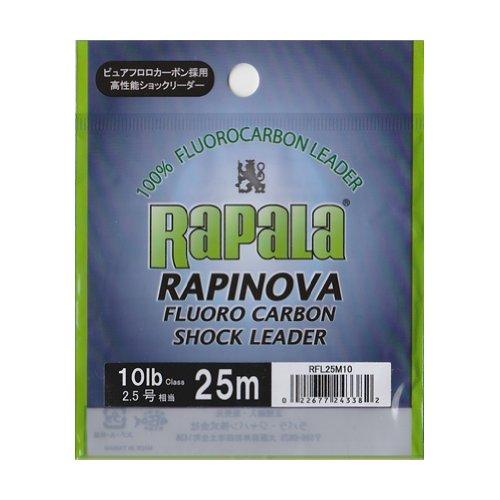 ラパラ(Rapala) ラピノヴァ フロロカーボン ショックリーダー 25m 2.5号 10lb クリア RAPINOVA FLUORO CARBON SHOCK LEADER RFL25M10