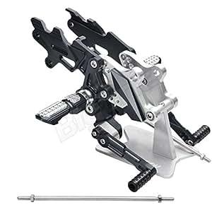 ステップ バックステップ 黒 Ninja250R JBK-EX250K 08-12 ニンジャ250R JBK-EX250K 08-12 バック ステップ