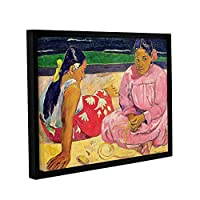 ArtWall Paul Gauguinのタヒチの女性 ギャラリー-ラップ フローター-フレーム付きキャンバス 14x18 マルチカラー 1gau027a1418f