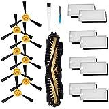 ロボット掃除機 ブラシ Ecovacs Deebot N79 N79S DN620 DN621 DN622エコバックス 用交換キット フィルター ブラシ (8個)と HEPAフィルター(8個)と メインブラシ(1個)掃除機用アクセサリ