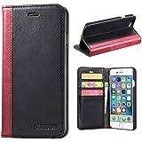 マグネット不使用 Qi充電可,iPhone8 plus ケース 手帳型 / iphone7 plus ケース 手帳型 本革 レザー カード収納 スタンド機能 手帳 アイフォン 8 / 7 プラス カバー
