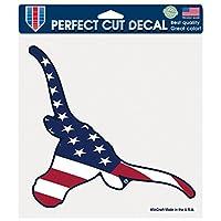 NCAAテキサスLonghorns Patriotic Perfectカットカラーデカール、8x 8インチ