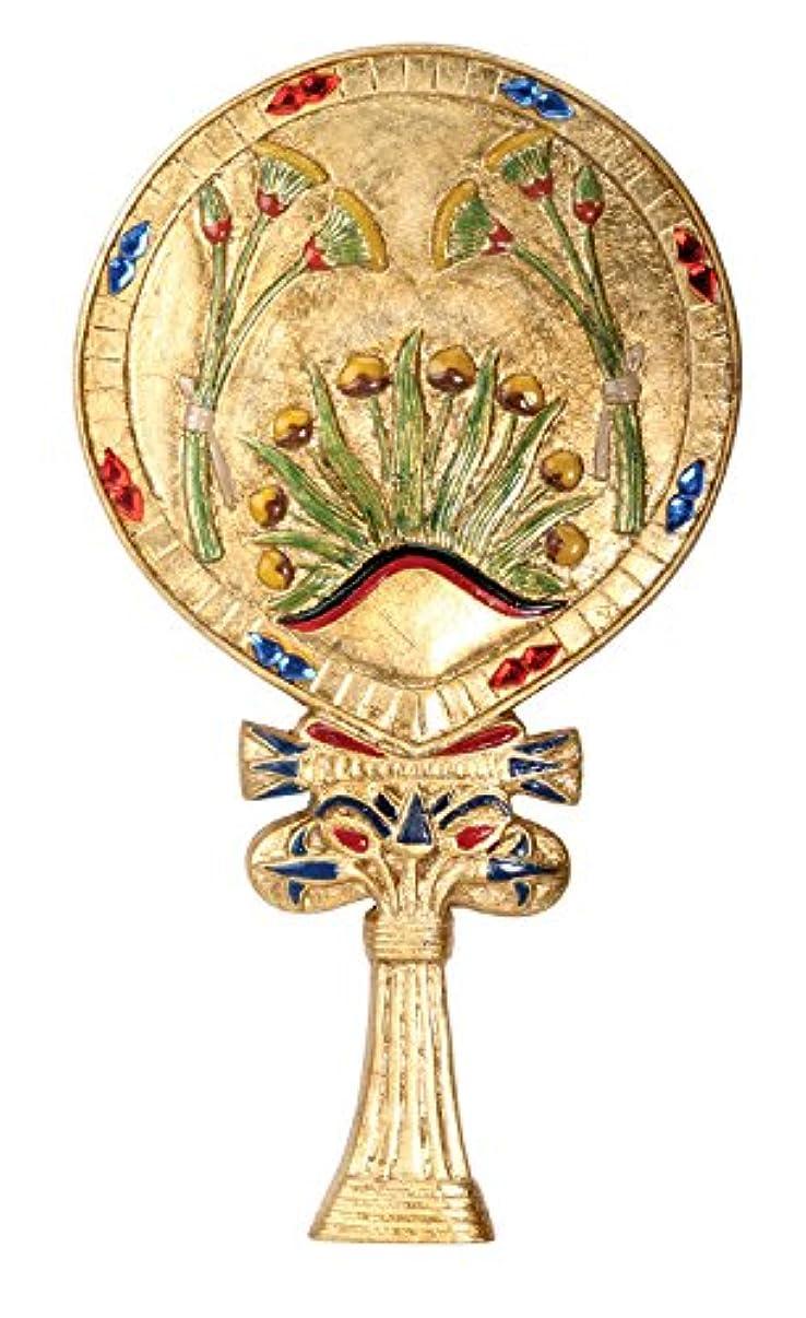 同一の食い違い現実にはYTC SUMMIT 5949 Egyptian Floral Hand Mirror - C-16