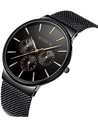 [ビデン] BIDEN ウォッチ ファッション 新型 黒タイプ オシャレ メンズ&レディース 腕時計