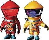 2001:スペースオデッセイ:DF宇宙飛行士レッド&イエローデフロリアルソフトビニール像2パック