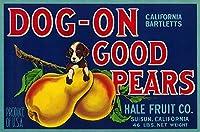 犬on Good Pears梨クレートラベル 24 x 36 Signed Art Print LANT-2157-710