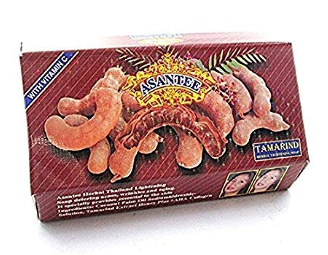 破壊的馬力ひねりHerbal Soap Asantee Tamarind Whitening Soap Thai Plus Honey 135 G. (1 Pcs.)