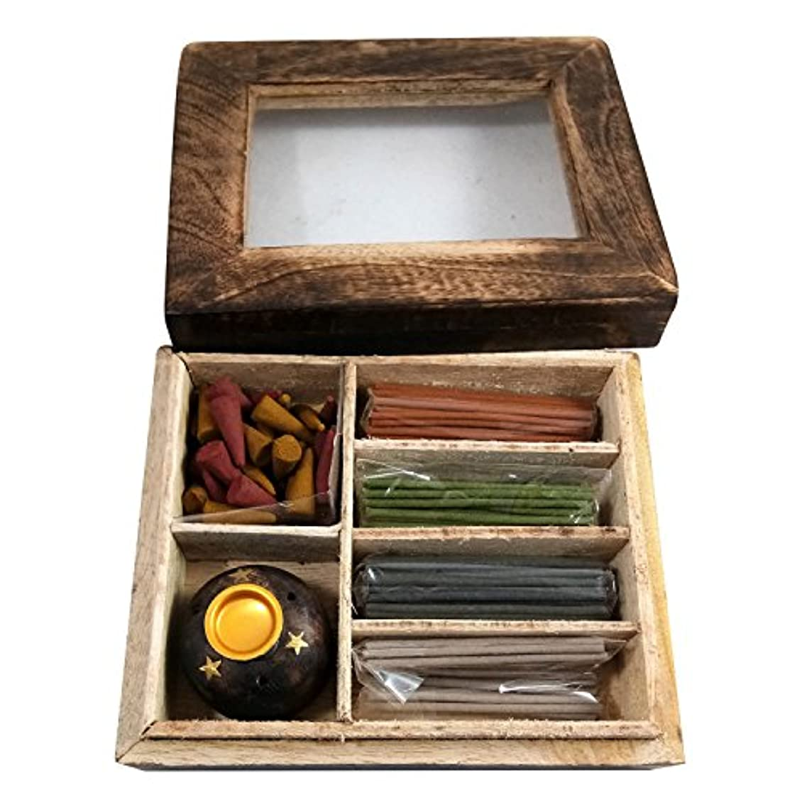 遠洋の相対的休眠手作りの木製工芸品の香りスティックボックスギフトパックの用途ホームフレグランス目的、個人&企業の贈り物|スティック&スタンド付きスティックギフトパック