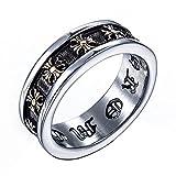 ZAKAKA 指輪 メンズ クロムハーツ風 リング ファッション アクセサリー (14)