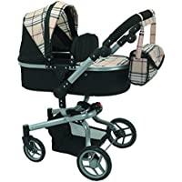 Mommy & me 2 in 1 Deluxe doll stroller EXTRA TALL 32'' HIGH (view all photos) 9695 Beige Plaid