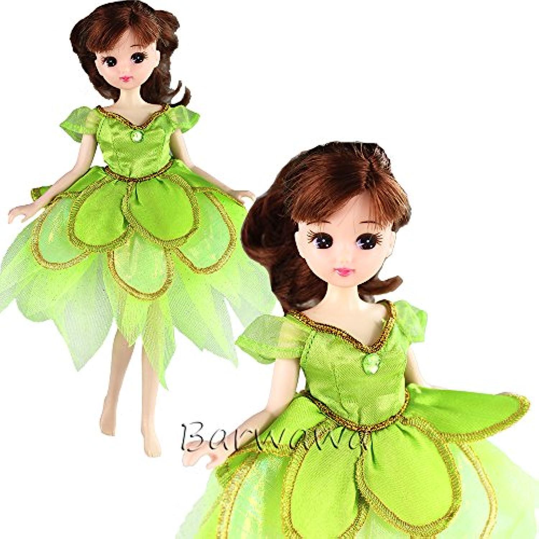 「Barwawa」リカちゃん 服 セット リカちゃんドレス 洋服 リカちゃん用 ワンピース 手作り リカちゃん きせかえ リカちゃん ウェア 可愛い精霊ドレス 手作り リカちゃん用 プリンセスドレス 靴付き