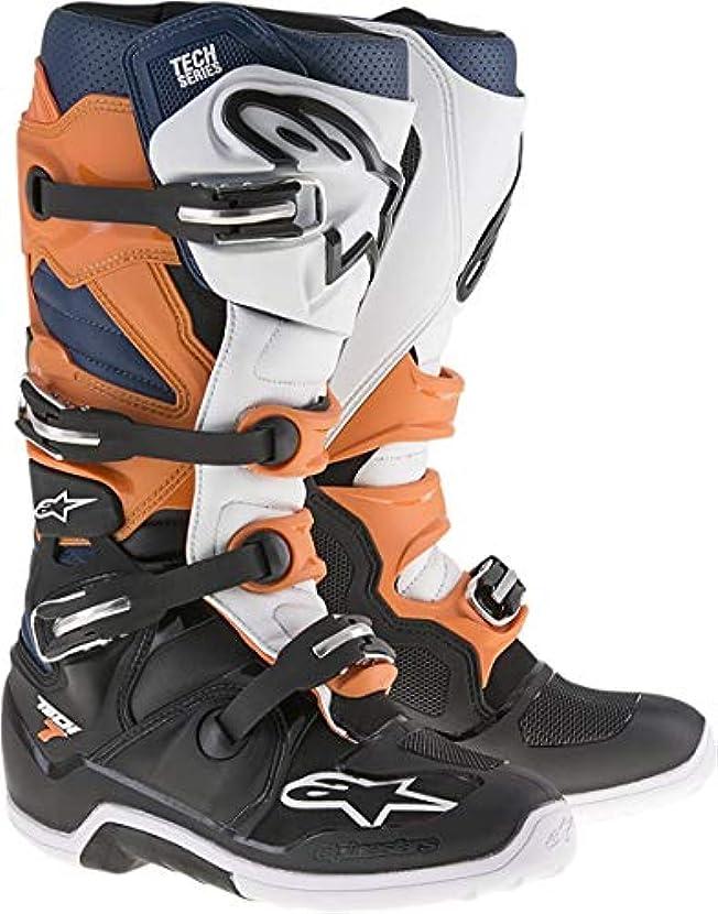 農学警戒カリング[Alpinestars] Men 's Tech 7 Boots 9 オレンジ 3410-1163-PU