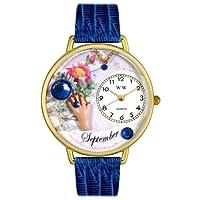 Whimsical Watches - Analog quartz Wristwatch, Leather