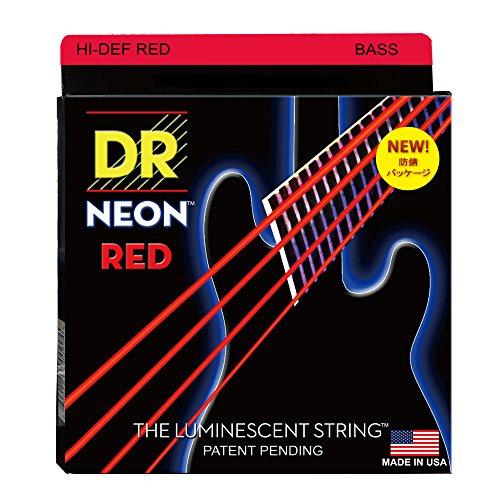 DR ベース弦 NEON ニッケルメッキ レッド カラー コーテッド .045-.105 NRB-45