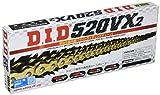 D.I.D(大同工業)バイク用チェーン カシメジョイント付属 520VX2-118ZB G&G(ゴールド) X-リング 二輪 オートバイ用