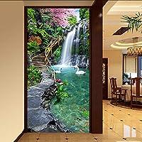 Lixiaoer カスタム写真壁紙壁絵画入り口通路山水風景大きな壁画壁紙用リビングルームモダンデザイン-350X250Cm