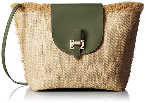 [해외][미안도하] ME AND HER 원 핸들 라피아 플랩 백/[Meandandha] ME AND HER One Handle Raffia Flap Bag