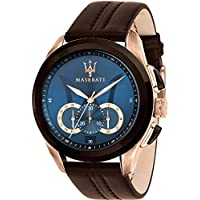 Maserati Traguardo Men's Brown Leather Watch - R8871612024