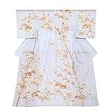 [ KIMONOMACHI ] お仕立て上がり 絽の訪問着単品「ブルーグレー 松竹梅」居敷当て付き フォーマル 正絹着物 礼装
