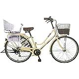 Lupinusルピナス 自転車 26インチ LP-266HA-knr-s シティサイクル LEDオートライト SHIMANO製6段ギア 後子乗せシルバー