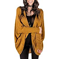 Mafulus Womens Oversized Cardigans Chunky Open Front Long Sleeve Loose Sweaters