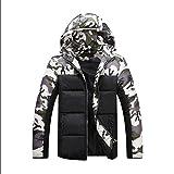 SemiAugust(セミオーガスト)メンズ 冬アウトウェア 迷彩ジャケット 高品質 男性用 人気ブルゾン お洒落 防風 保温 メンズファッションコートー[Mー4XL] カラーはグリーン サイズはXL
