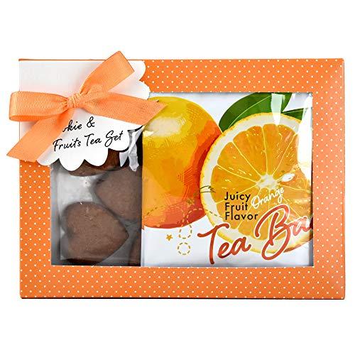 紅茶&クッキー フルーツパーティー カフェセット 【オレンジティー・チョコレートクッキー】