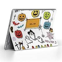 Surface go 専用スキンシール サーフェス go ノートブック ノートパソコン カバー ケース フィルム ステッカー アクセサリー 保護 おばけ ハロウィン ジャックランタン 011695