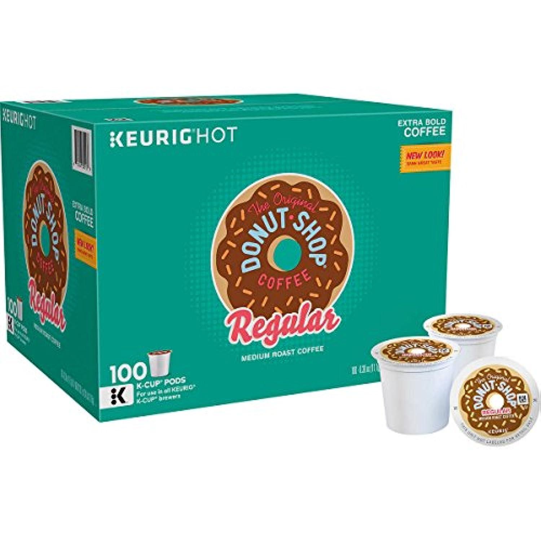 元のドーナツショップRegular Keurig single-serve k-cupポッド、Regularミディアムローストコーヒー、100カウント