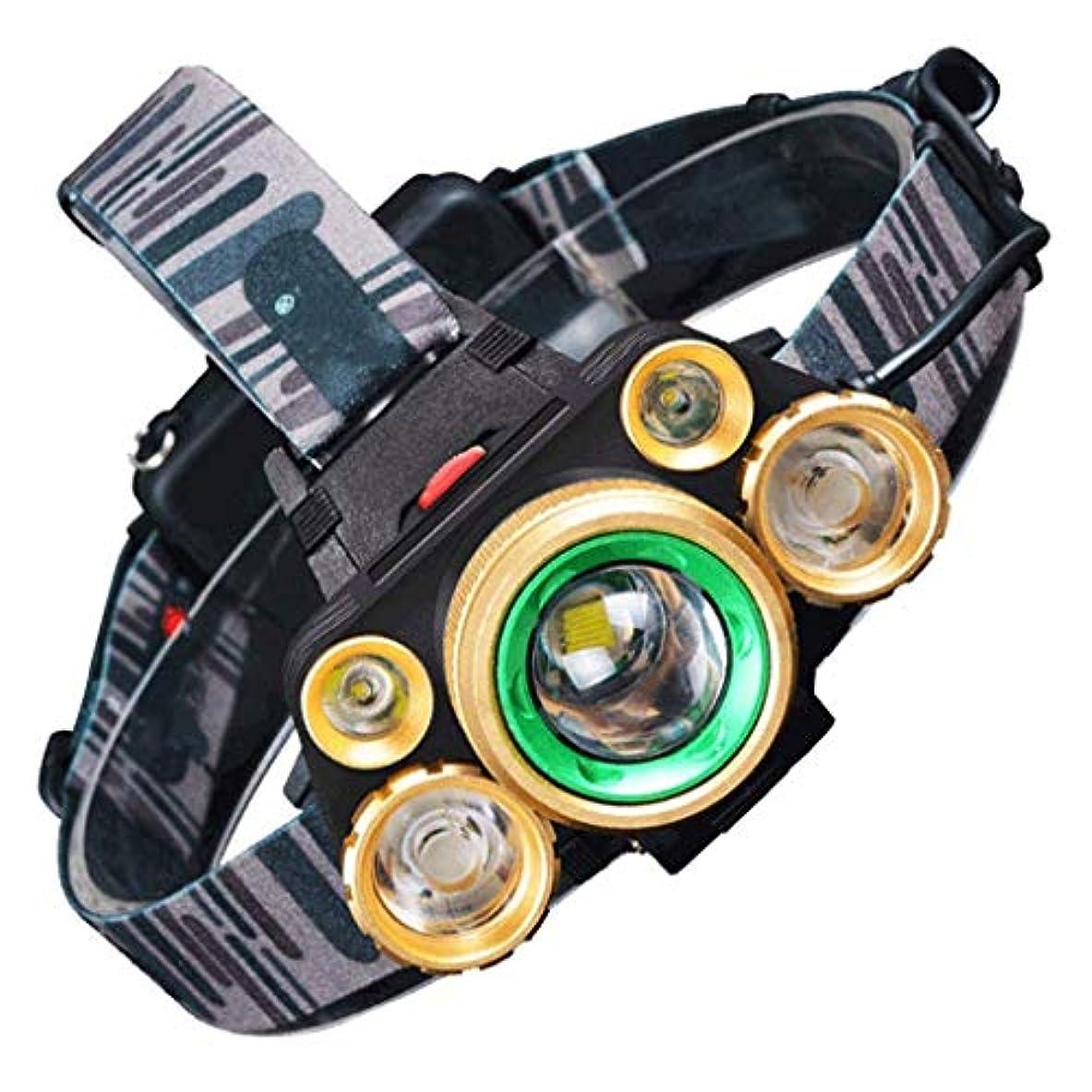 北東男やもめ推測するYFFSS LEDヘッドライト防水照明ヘッドライト防災クイックレポート5灯タイプ4ブロック照明モード登山夜釣り屋外作業充電