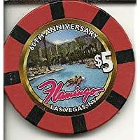 $ 5 Flamingo 60th Anniversary Rare Obsoleteラスベガスカジノチップ