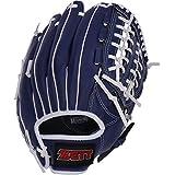 ゼット(ZETT) 野球 一般 軟式 グローブ (グラブ) オールラウンド 初心者用 衝撃吸収パッド付き 11.5インチ 右投用 ブルー BDG2012