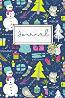 Journal: Cute Christmas Composition Notebook Diary | 100 Wide Ruled Pages | Small, 6x9 Inches | Christmas Hashtags