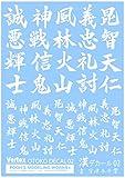 プーズモデリングワークス ベルテクス 漢デカール02 ホワイト プラモデル用デカール VOC-02W