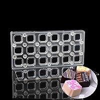 Grainrain正方形DIYチョコレート転送シートカスタムMolds磁気ポリカーボネートMould
