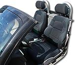 アウディTT人工レザーカスタムフィット前席シートカバー ブラック TT9906.Black