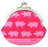 がま口 2.6寸 ブタ 財布 小銭入れ ピンク 日本製 ハンドメイド ぶた
