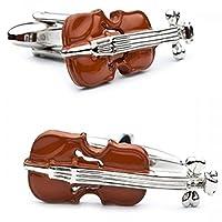 ブラウンViolin Cufflinks音楽音楽家Instrument Harmonyパーティーギフトバンド