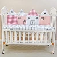 綿 ベッドレール, 漫画 反衝突 リムーバブル洗浄 赤ちゃん ベッドガード 4 小型パネル 無料 ステッチ-A