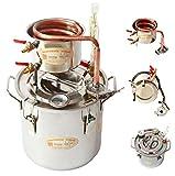newwishjc 20 L DIY新しいホーム蒸留器の密造酒の静止画、銅クーラーの温度計、ステンレス製のボイラー、水、アルコール、精油、スピリッツ