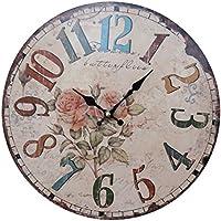 ギークルジャパン 壁掛け時計 ラウンド ウォールクロック アンティーク MJH0481