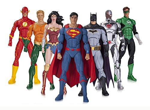 DCコレクティブルズ DCコミックス アイコンズ 6インチ アクションフィギュア 7パック DCユニバース リバース ジャスティスリーグ (バットマン&スーパーマン&ワンダーウーマン&フラッシュ&グリーンランタン&アクアマン&サイボーグ) / DC COLLECTIBLES DC COMICS ICONS DC UNIVERSE REBIRTH JUSTICE LEAGUE 【並行輸入品】